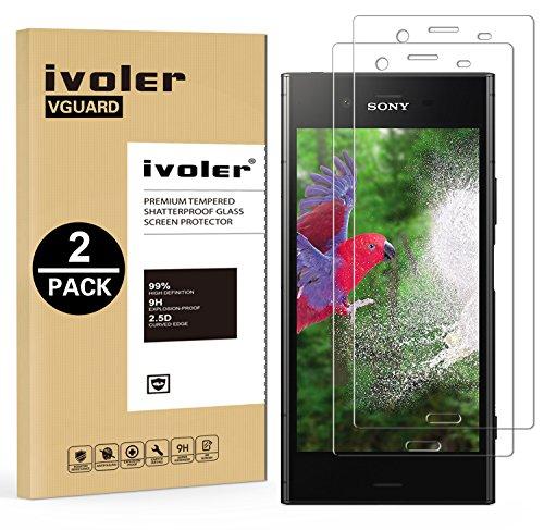 ivoler [2 pack] pellicola vetro temperato per sony xperia xz1 [garanzia a vita], pellicola protettiva, protezione per schermo