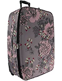"""Lightweight Expanding Large Medium Small Cabin Trolley Luggage Suitcase (Butterfly 26"""" Medium)"""