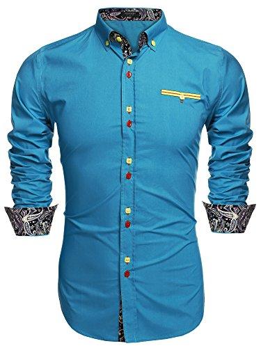 34fc37b644f7 ▷ Shirts Coofandy Men s Fashion Slim Fit Dress Shirt Casual S...