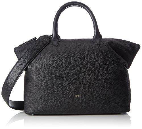 BREE Damen, Black, Icon Bag S18 Handgelenkstasche, Schwarz, 12x38x32 cm