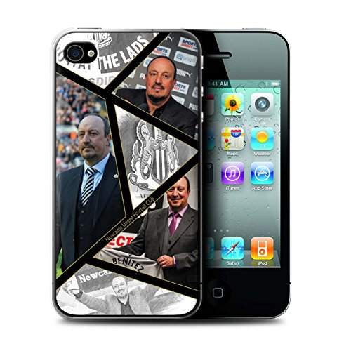 Officiel Newcastle United FC Coque / Etui pour Apple iPhone 4/4S / Pack 8pcs Design / NUFC Rafa Benítez Collection Montage