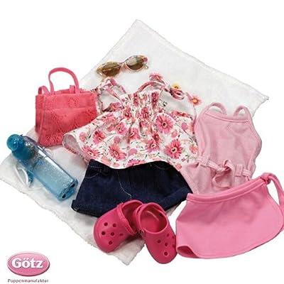 Gotz 3401754 Summer Fun Set, 10 pcs., for Gotz standing dolls 46-50 cm de Gotz Puppenmanufaktur