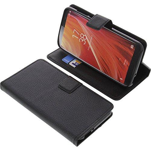 foto-kontor Tasche für HomTom S7 Book Style schwarz Schutz Hülle Buch