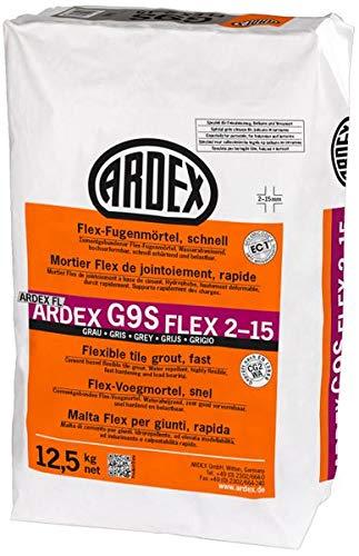 ARDEX G9S Flex-Fugenmörtel 2-15 mm 12,5 kg - grau - Schnell erhärtender Flex-Fugenmörtel. Für Fugenbreiten von 2-15 mm, an Wand und Boden, im Innen- und Außenbereich.