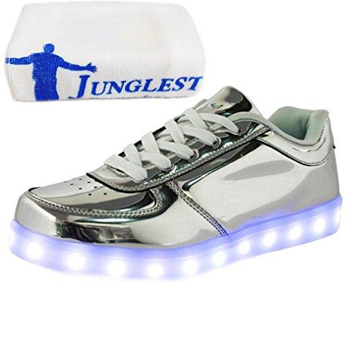 (Presente:pequeña toalla)Blanco 44 Negro Up Hombres Zapatos Light 7 Unisex JUNGLEST WFIJ5EEhyT