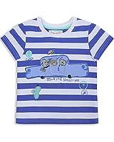The Essential One - Boys Kids Stripe T-Shirt - Bailey Bear - 2-3 Yrs - Blue/White - EOT190