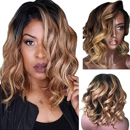 Cheveux de Perruque de Fibre Femmes Noires Brésiliennes Séparation Courte et Ondulée Naturelle bresilienne 15.74 pouces/40 cm 2019