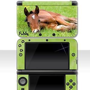 """Nintendo 3DS XL Skin """" FOHLY """" Aufkleber Sticker Folie Schutzfolie"""