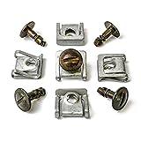 MYBA-S 8D08059608D0805121 Kit de fixation 15 pièces en métal avec clips de fixation et vis pour cache de protection de dessous de moteur pour Audi, VW et Skoda