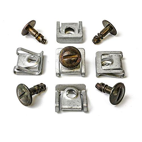 MYBA-S 8D08059608D0805121 Kit de fixation 15 pièces en métal avec clips de fixation et vis pour cache de protection de dessous de moteur pour Audi, VW et Skoda pas cher – Livraison Express à Domicile