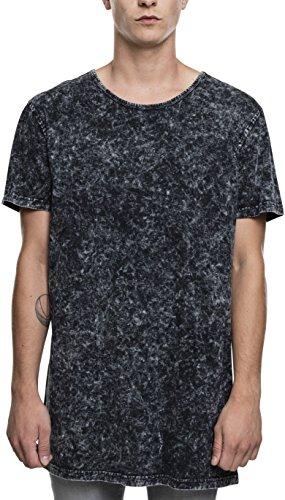 Urban Classics Herren T-Shirt Random Wash Long Tee, Schwarz, Größe Medium (Lange Mann Tee)