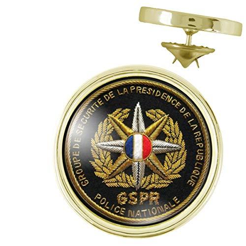Pin's Doré 20mm Ecusson GSPR Groupe de Sécurité de la Présidence de la République Pins Bouton Epingl