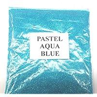 100G PASTEL AQUA BLUE GLITTER NAIL ART CRAFT FLORISTRY WINE GLASS