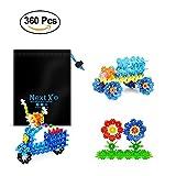 NextX Blocchi da Costruzione Fiocchi di Neve – Set di 360 Dischi di Plastica – Giocattolo Educativo Prima Infanzia – Regalo Perfetto per Bambini 3+ Anni