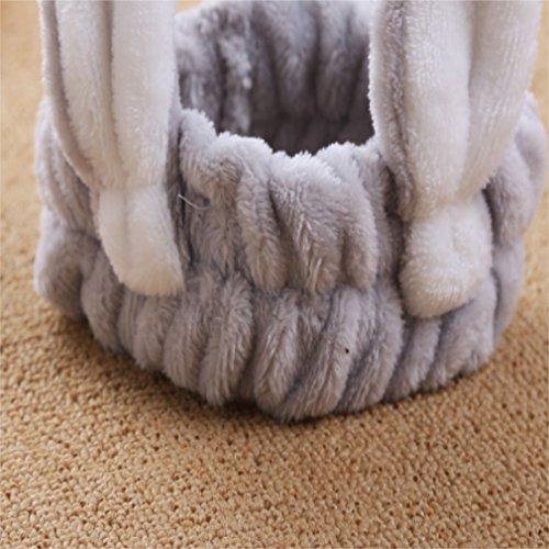 Xinjiener Damen Kopfband Kaninchen Ohr Make-up mit breiter Krempe Stirnband Haarschmuck Waschen Haarband (Farbe : Grey, Größe : ()