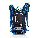 KODOO Mochila Impermeable DE 18 L para Ciclismo Hombre Mujer Ligera Hombro al Aire Libre Bolsa para Bicicleta de Montaña Bicicleta de Viaje Senderismo Camping (Azul)