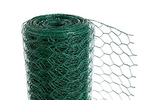 PVC Green chicken Wire 50mm x 600mm high x 25m (535) Test