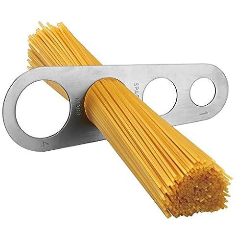 Acier inoxydable Spaghetti Mesureur Pâtes Mesurer Cook ustensile de cuisine outils/Spaghetti nouilles 4trous Mesure Portion Control (Mesure jusqu'à quatre Adulte portions)