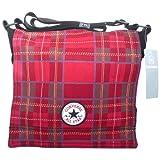 Converse Chucks Patch Paid Tartan Shopper Bag Rot Schwarz Tasche Gr. S
