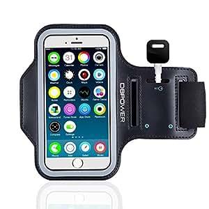 DBPOWER Fascia da Braccio Sportiva Sweatproof Cinturino Regolabile con Cuiffia Slot e Porta Chiavi per iPhone 6/iPhone 6s/Galaxy S3/S4/S5 per Corsa, Jogging, Ciclismo, Allenamento, e Esercizio
