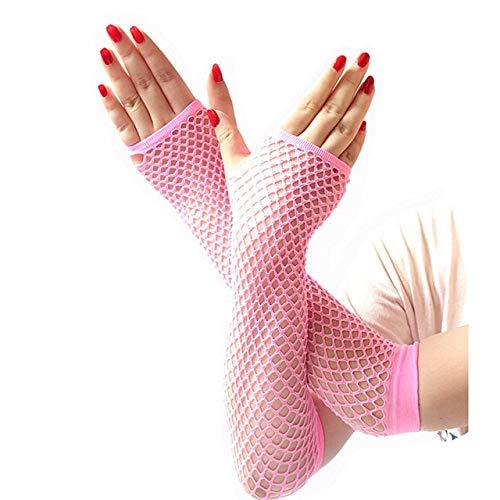 Gewichtheber Vintage Kostüm - KBWL Fischnetz Handschuhe Frauen Sexy Disco Dance Kostüm Fingerlose Handschuhe Frauen Lange Handschuhe Sommer Heißer