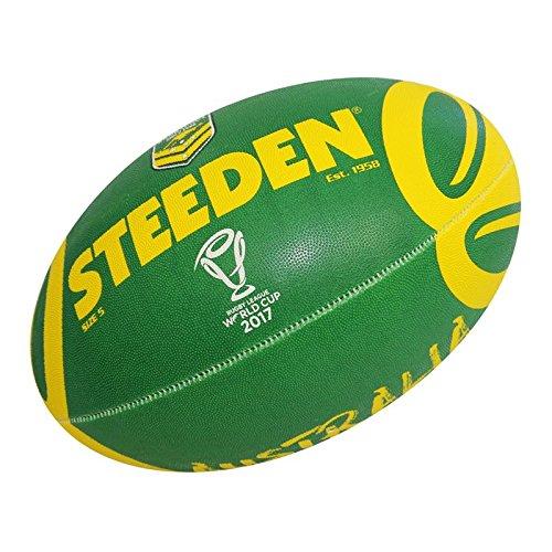 Steeden Rugby League 2017Australien World Cup Replica Ball [Größe 5]