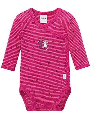 Schiesser Baby-Mädchen Body Wickelbody 1/1, Rot (Pink 504), 68 (Herstellergröße: 068)