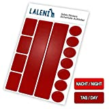 Laleni 13 teiliges Reflektor Set - Reflektoren selbstklebend, Aufkleber für Kinder, Kinderwagen, 1er Set, rot