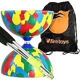 Juggle Dream Jester Diabolo Set (4 colori), aste di alluminio (corda inclusa) e borsa da viaggio Firetoys