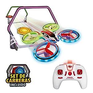 World Brands-Neon Racing (Xtrem Raiders) Mini Carreras Juguete Regalo para niños, Nano Drone, Color Verde XT280745