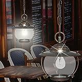Schiffs Hänge Leuchte AUSSEN Ø220mm/ Antik/Maritim/ Braun/Rost/ Messing/Pendel Lampe Aussenlampe Aussenleuchte Hängelampe Hängeleuchte Pendellampe Pendelleuchte