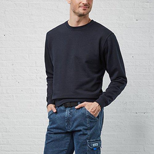 PIONIER WORKWEAR Herren Sweatshirt mit Rundhals in marineblau (Art.-Nr. 2660) Marineblau