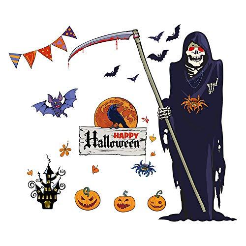 (QTZJYLW Halloween Party Dekoration Cartoon Von Spooky Pvc Wanddekorationen Haushalt Zimmer Boden Wandaufkleber (60 × 90 Cm))