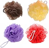 SAHAYA Combo of 4 Bath Loofah/ Sponge -Red, Brown, Peach and Purple Color