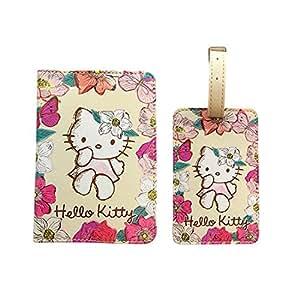 Etui Pour Passeport & Etiquette Bagage Hello Kitty Coffret Cadeau Style Vintage