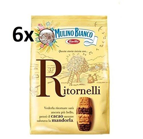 Preisvergleich Produktbild 6x Mulino Bianco Kekse Ritornelli 700g Italien biscuits cookies kuchen brioche