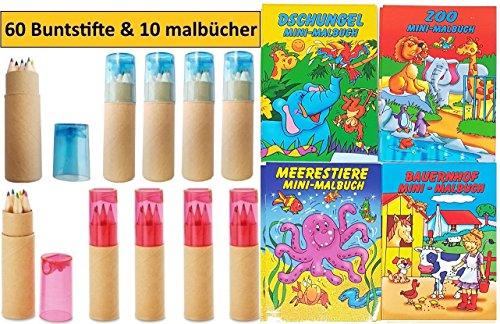 10 Sets Libetui Buntstifte Malbücher für Kindergeburtstag Kinderparty Hochzeit Gastegeschenke...