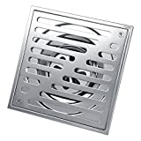 Drain-Dusche eckig Edelstahl eckig Bodenablauf geruchshemmend für Badezimmer Breite Stärke 110* 110/150* 150mm