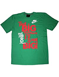 Nike Men's Big Numbers T-Shirt Gamma Green Crimson Mango