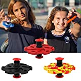 About1988 Finger Hand Spinner Stress Reliever springenden Gyro UFO Fliegender Ball Spielzeug für Kinder, Mini Quadcopter Drohne Fingerspitzenkreisel (Schwarz)