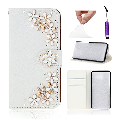 Obamono ZTE Blade A2 Wallet Case, Stylish Slim PU Leather Girls Stand and Card Holders Wallet Phone Cover Back Shell Protective Case Compatible with ZTE Blade A2 -ZTE Blade A2 / Blade V7 Lite (Custom Switch Light)