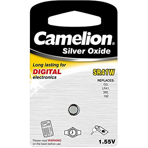 Camelion SR41W 1.55 V Silver Oxide Button Cell Battery