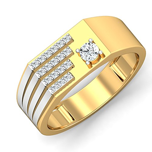 atjewels 18K Yellow Gold On Solid 925 Sterling Silver White Simulated Diamond...