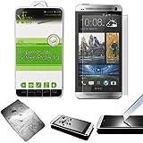 Xtra-Funky Serie HTC One M7 Ultra Fino 0.26mm Cristal Templado Protector Pantalla 9H a Resistente a Los Arañazos - Tempered Glass