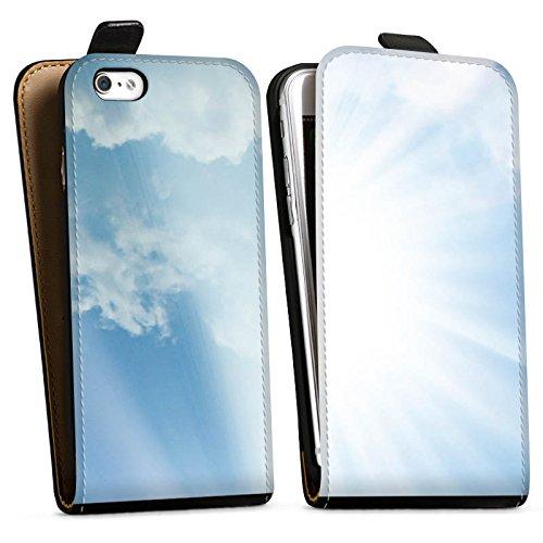 Apple iPhone X Silikon Hülle Case Schutzhülle Wolken Sonnenstrahlen Himmel Downflip Tasche schwarz