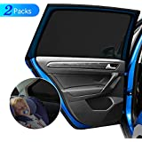 """DIZA100 Car Side Window Sun Shade 2Pack, Car Sun Shade Blocking Car Mosquito Net for Baby, Protection for Kids/Baby/Adults/Pets - 40""""x20"""" Fits All (98%) Cars!"""