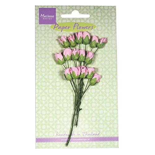 marianne-design-hecho-a-mano-rosas-bud-flores-para-tarjeta-papel-rosa-claro