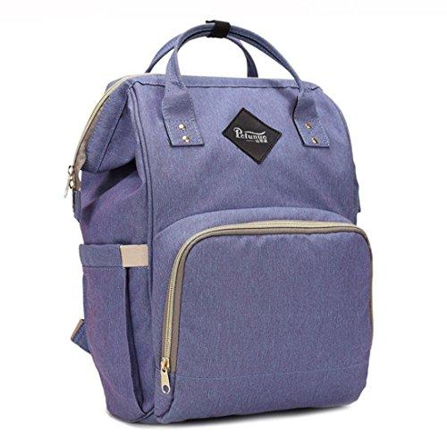 Mummia Borsa,Kword Mamma Grande Capacità di Viaggio Zaino Pannolino Borsa Baby Bag Designer Infermieristica Bag Viola