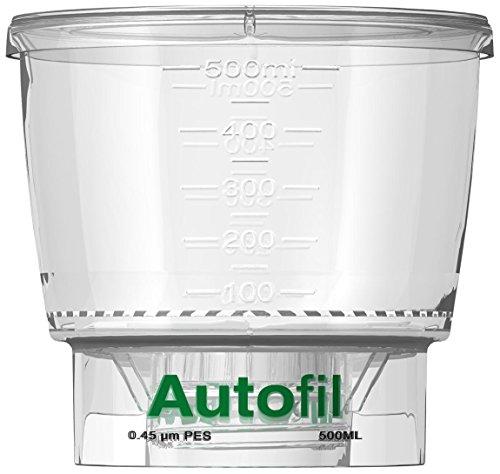 autofil steril Einweg Vakuum Flasche Top Filter mit 0.45UM PES Membran für prefiltration oder Klärung, 500ml, 24/CS (Sterile Flaschen)