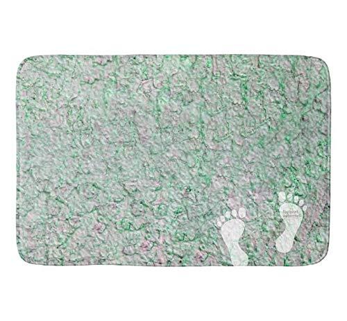 Yang Badezimmerteppich (75 x 45 cm), extra weich und saugfähig, maschinenwaschbar, Fußmatten für Wanne, Dusche und Badezimmer, grüner Hintergrund
